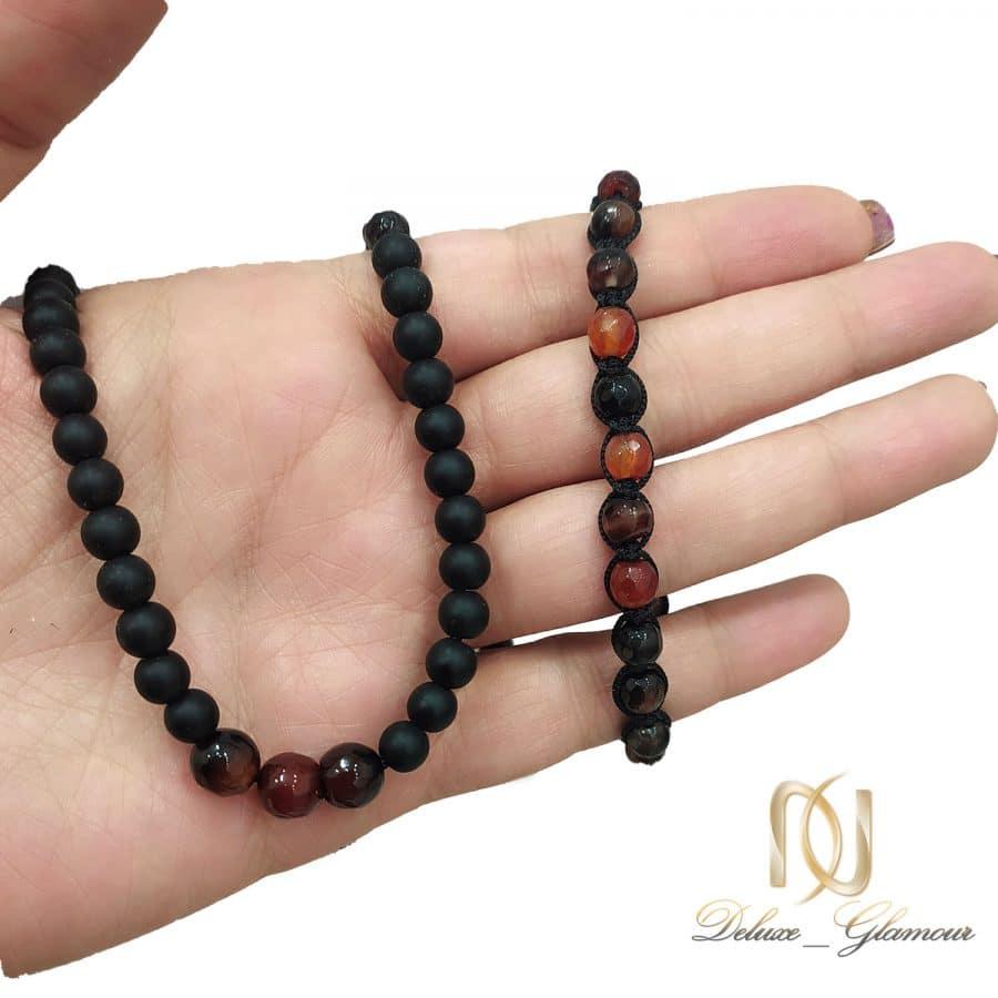 ست دستبند و گردنبند سنگی مردانه za n476 3 | ست دستبند و گردنبند سنگی مردانه za-n476