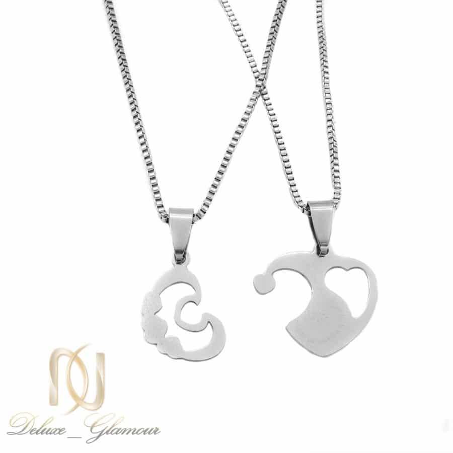 گردنبند ست دوتکه استیل طرح قلب NW N816 | گردنبند ست دوتکه استیل طرح قلب NW-N816