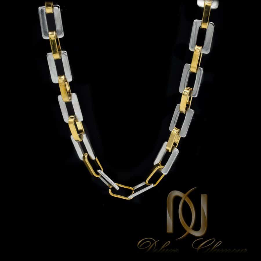 گردنبند مردانه زنجیری طرح طلا NW N818 1   گردنبند مردانه زنجیری طرح طلا NW-N818