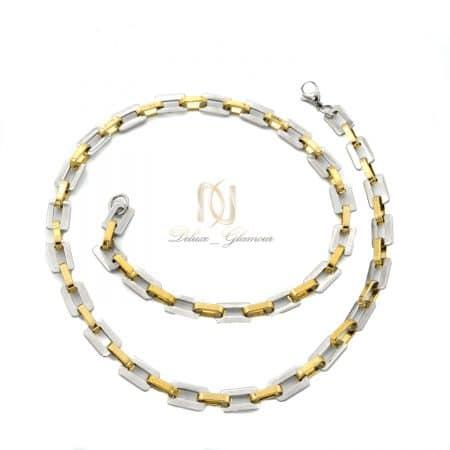گردنبند مردانه زنجیری طرح طلا NW-N818
