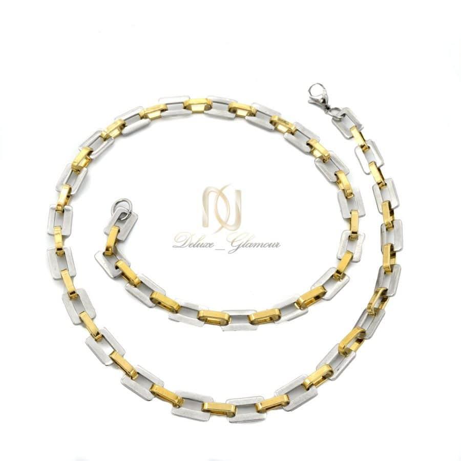 گردنبند مردانه زنجیری طرح طلا NW N818 2   گردنبند مردانه زنجیری طرح طلا NW-N818