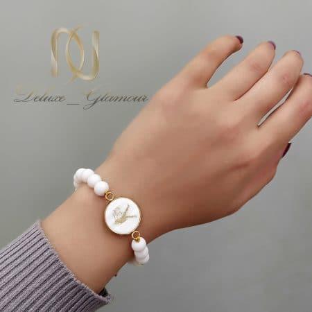 دستبند ماه تولد مهر سنگی za-n485