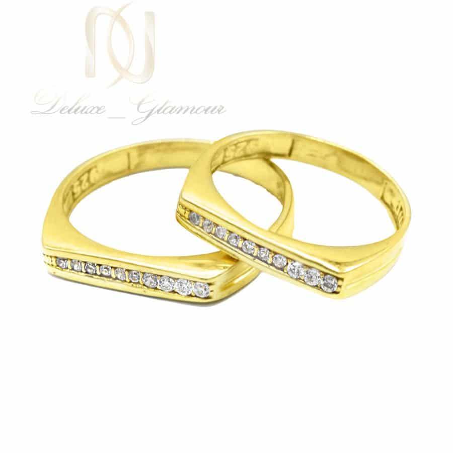 حلقه ست نامزدی نقره طرح طلا rg-n614