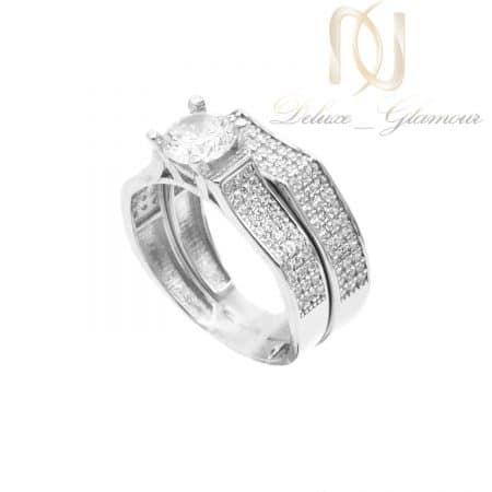 حلقه و پشت حلقه نقره خاص دخترانه rg-n608