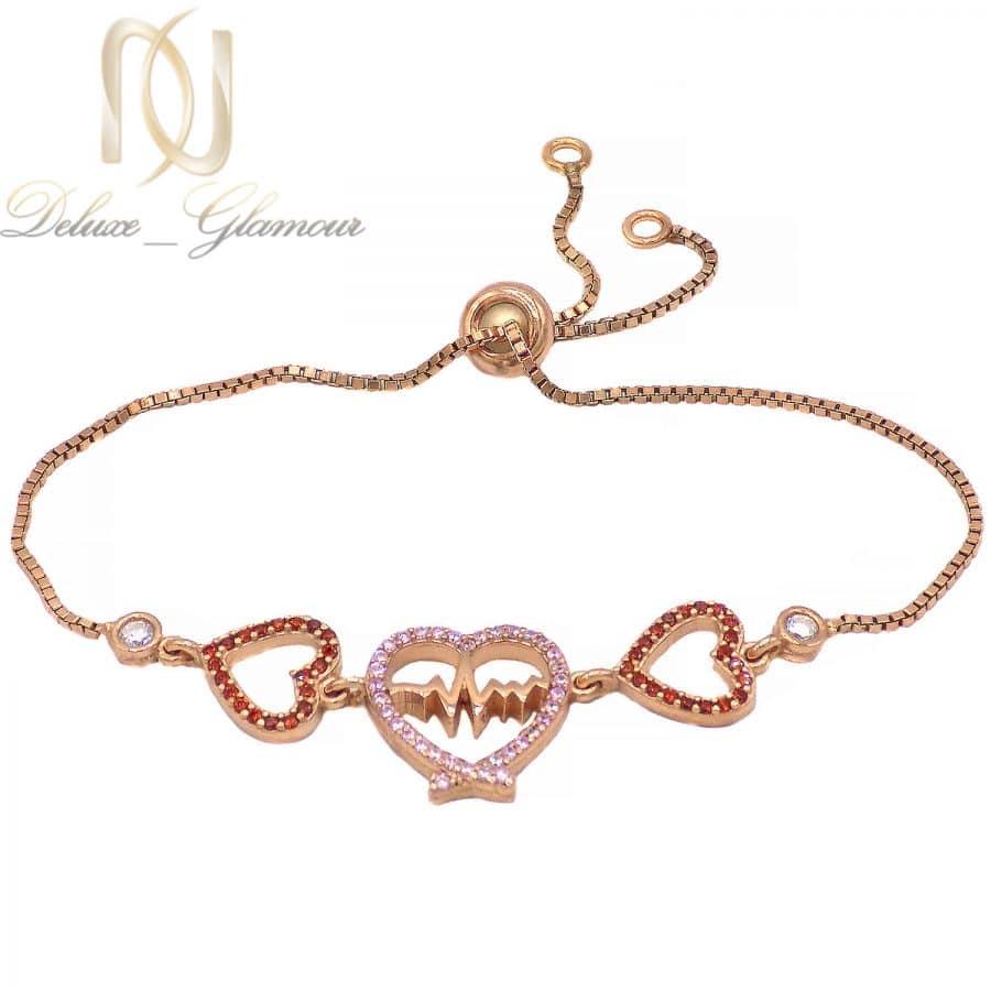 دستبند دخترانه نقره 925 طرح ضربان ma-n513