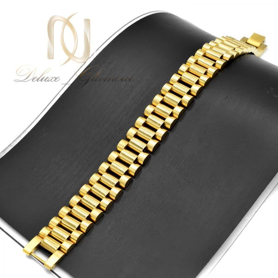 دستبند مردانه ROLEX عریض استیل DS-N746