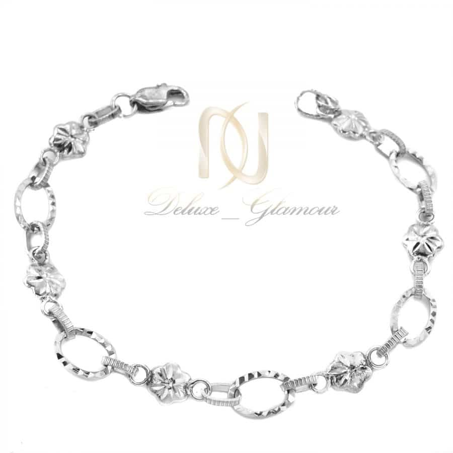 دستبند نقره زنانه تراش طرح کارتیر ds-n747