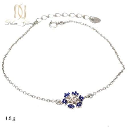 دستبند نقره دخترانه ظریف طرح برف ma-n500