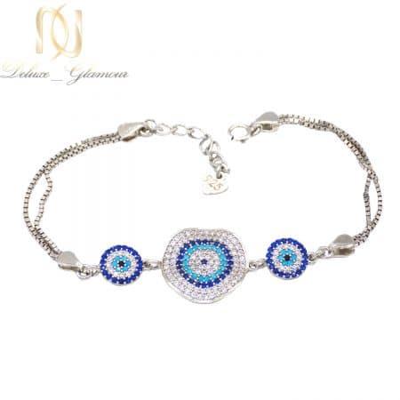 دستبند نقره طرح طلا سفید خاص ma-n519