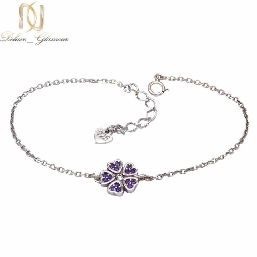 دستبند نقره دخترانه طرح گل ma-n512