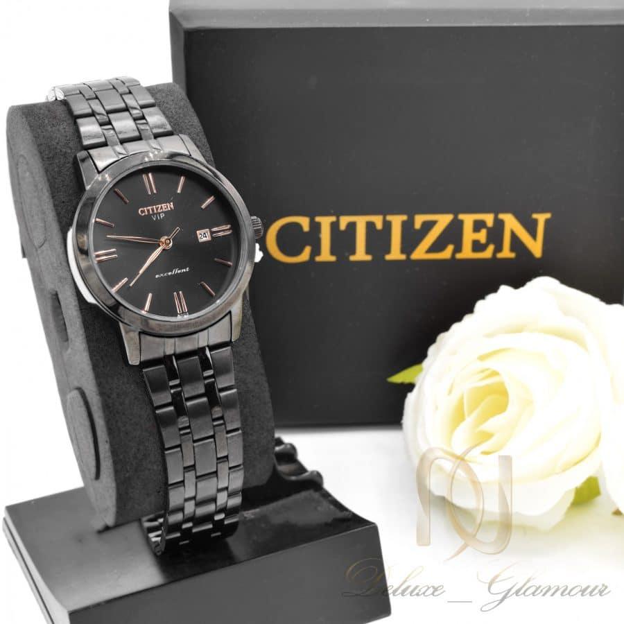 ساعت زنانه سیتیزن 1 | ساعت citizen زنانه مشکی استیل sh-n226