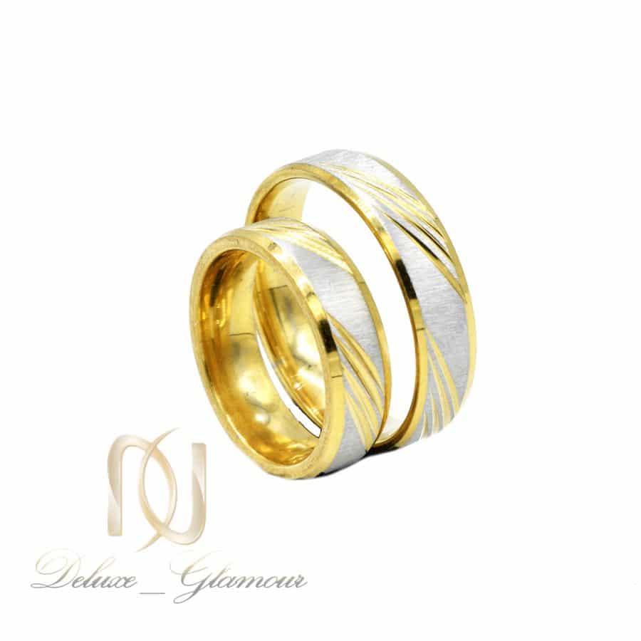 حلقه ست استیل طرح طلای نامزدی rg-n606