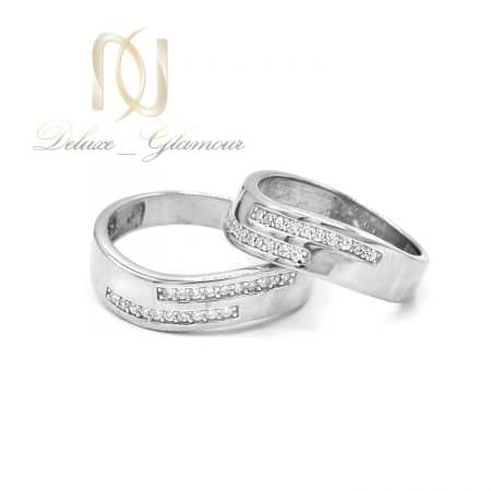 حلقه ست نقره ازدواج طرح طلا rg-n605