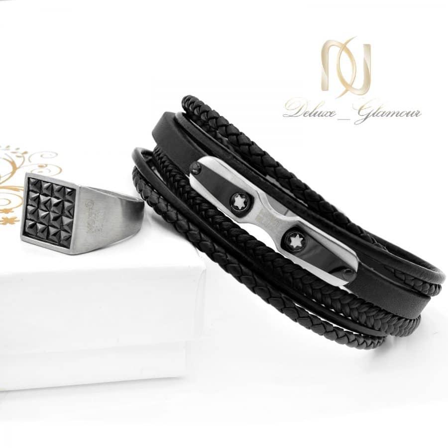 ست دستبند و انگشتر مردانه مونت بلانک ns-n676
