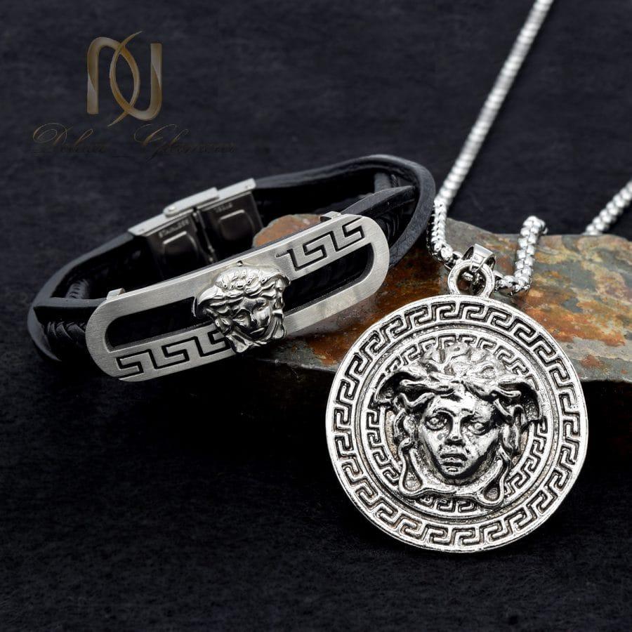 ست دستبند و گردنبند ورساچه 1 | ست دستبند و گردنبند مردانه طرح ورساچه NS-N679