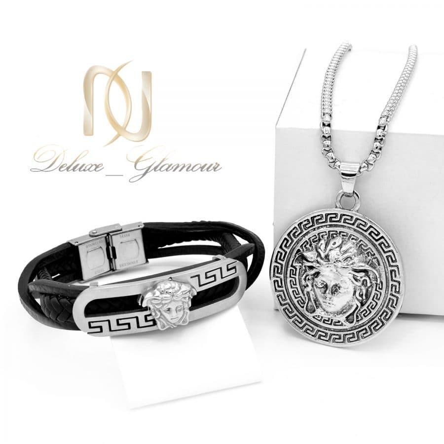 ست دستبند و گردنبند مردانه طرح ورساچه NS-N679