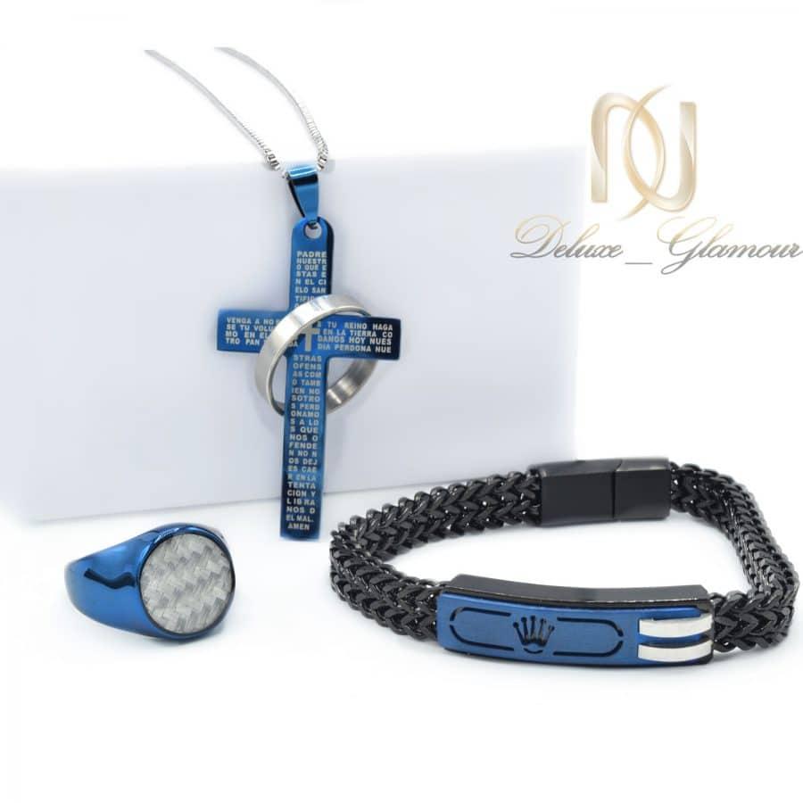 ست مردانه استیل لوکس 1 | ست دستبند، انگشتر و گردنبند مردانه خاص ns-n688