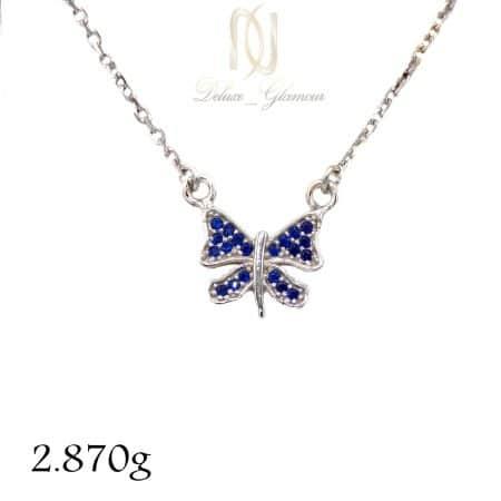 گردنبند دخترانه نقره ظریف پروانه ma-n501