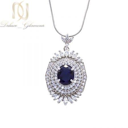 گردنبند زنانه جواهری نقره 925 اصل bz-n107