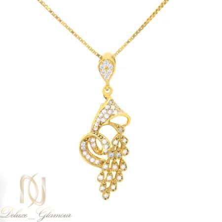 گردنبند زنانه نقره اصل طرح طلا ma-n515