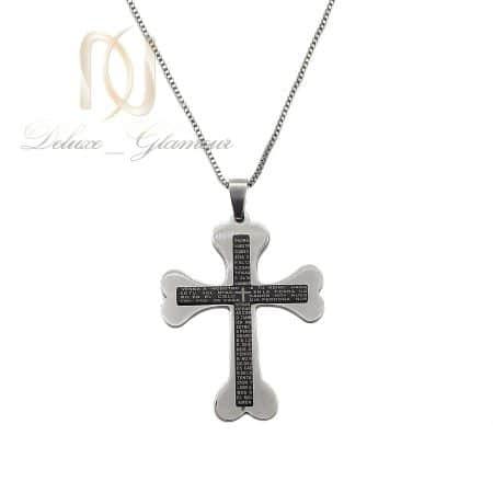 گردنبند صلیب مردانه استیل طرح خاص nw-n842