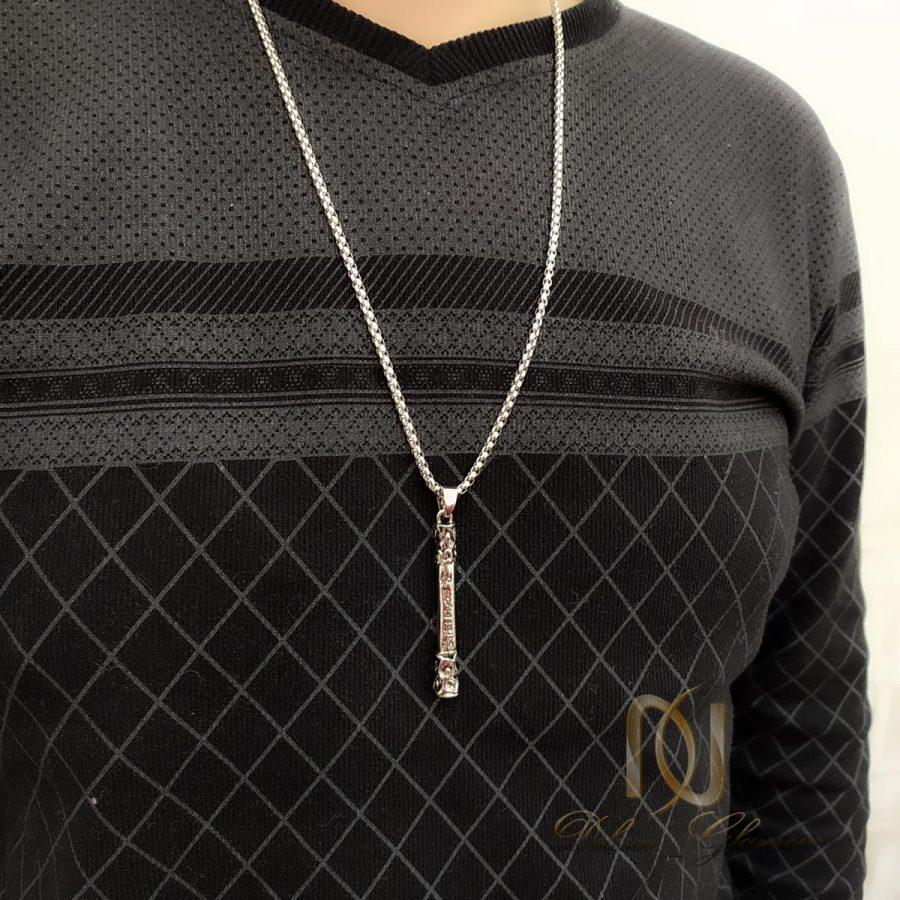 گردنبند مردانه 3   گردنبند مردانه استیل طرح خاص nw-n840