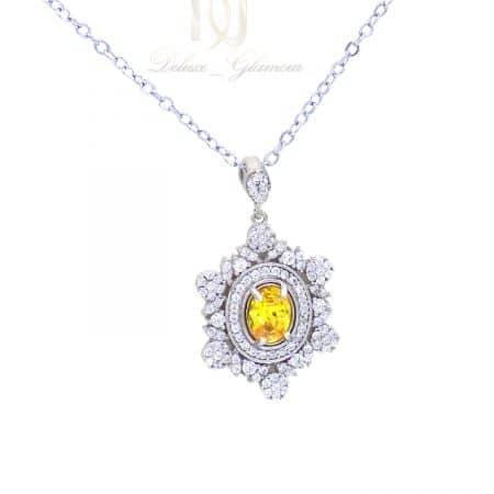 گردنبند نقره جواهری زنانه ma-n508