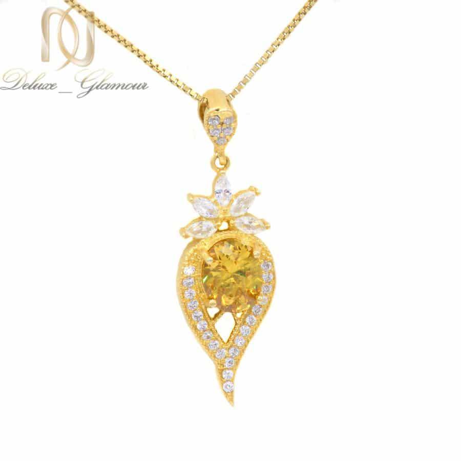 گردنبند نقره زنانه طرح طلای خاص ma n520 | گردنبند نقره زنانه طرح طلای خاص ma-n520
