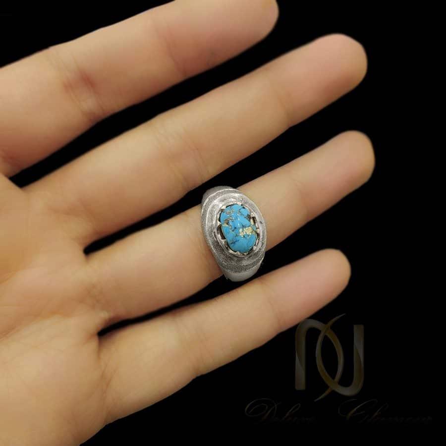 انگشتر مردانه 1 1 | انگشتر فیروزه اصل نیشابور نقره مردانه rg-n625