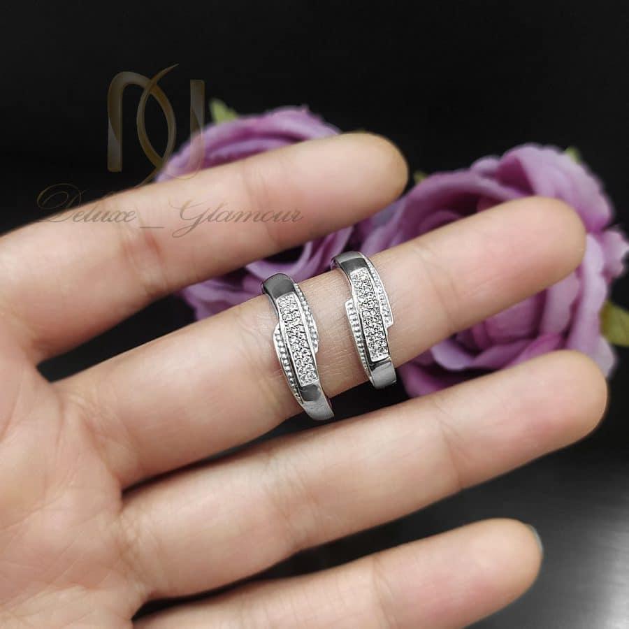 حلقه | حلقه ست نقره ازدواج نگین دار جدید RG-N626