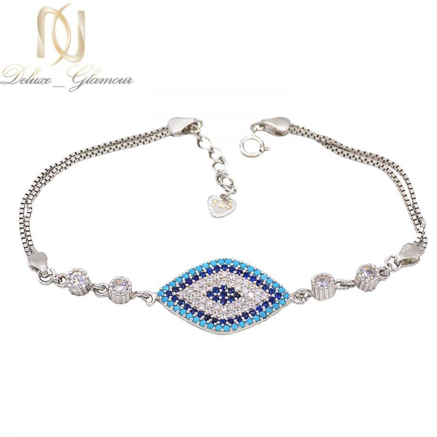 دستبند دخترانه نقره شیک نگین دار ma n532 | دستبند دخترانه نقره شیک نگین دار ma-n532