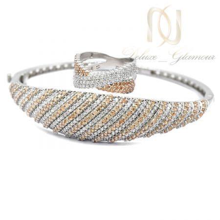 ست نقره زنانه دستبند و انگشتر ns-n697