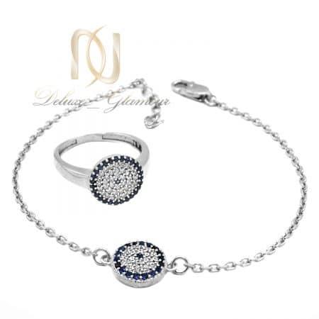ست دستبند و انگشتر دخترانه نقره اصل ns-n698