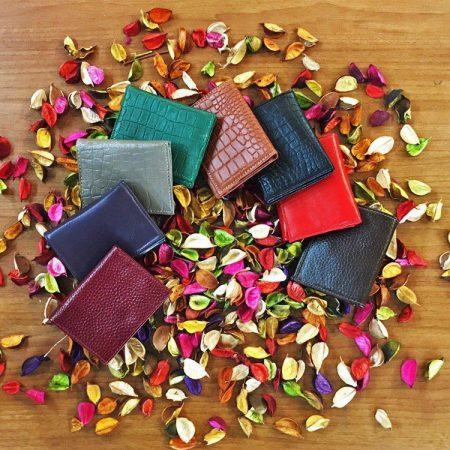 کیف پول دخترانه چرم طبیعی در 12 رنگ متنوع و شاد کد NL001