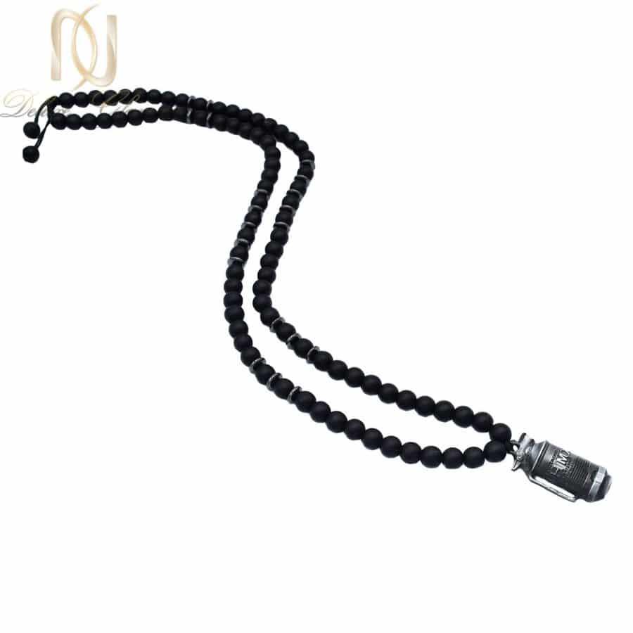 گردنبند مردانه سنگی طرح کپسول za n487 2 | گردنبند مردانه سنگی طرح کپسول za-n487