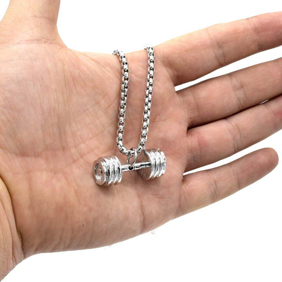 گردنبند مردانه طرح دمبل استیل درجه یک nw n704 2 | گردنبند مردانه طرح دمبل استیل درجه یک nw-n704