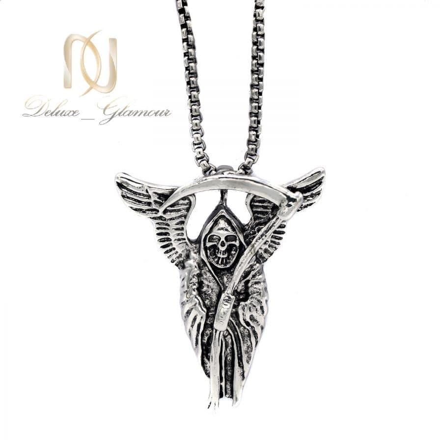 گردنبند مردانه 3   گردنبند اسپرت استیل طرح فرشته مرگ nw-n697