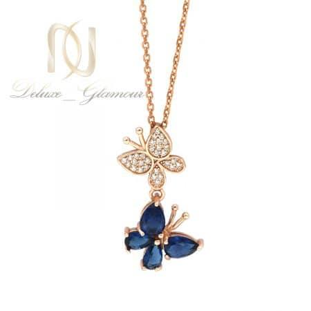 گردنبند نقره خاص دخترانه طرح پروانه nw-n701
