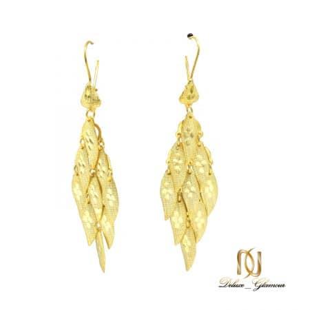 گوشواره نقره زنانه طرح طلای آویزی er-n253