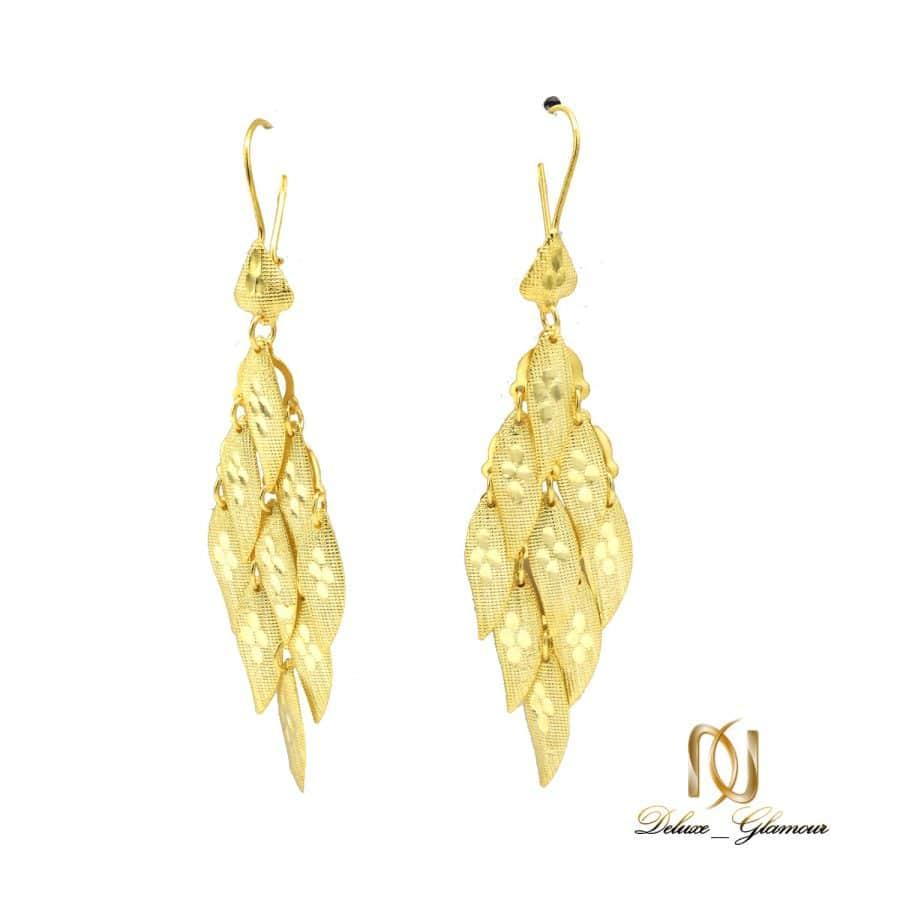گوشواره نقره زنانه طرح طلای آویزی er n253 | گوشواره نقره زنانه طرح طلای آویزی er-n253
