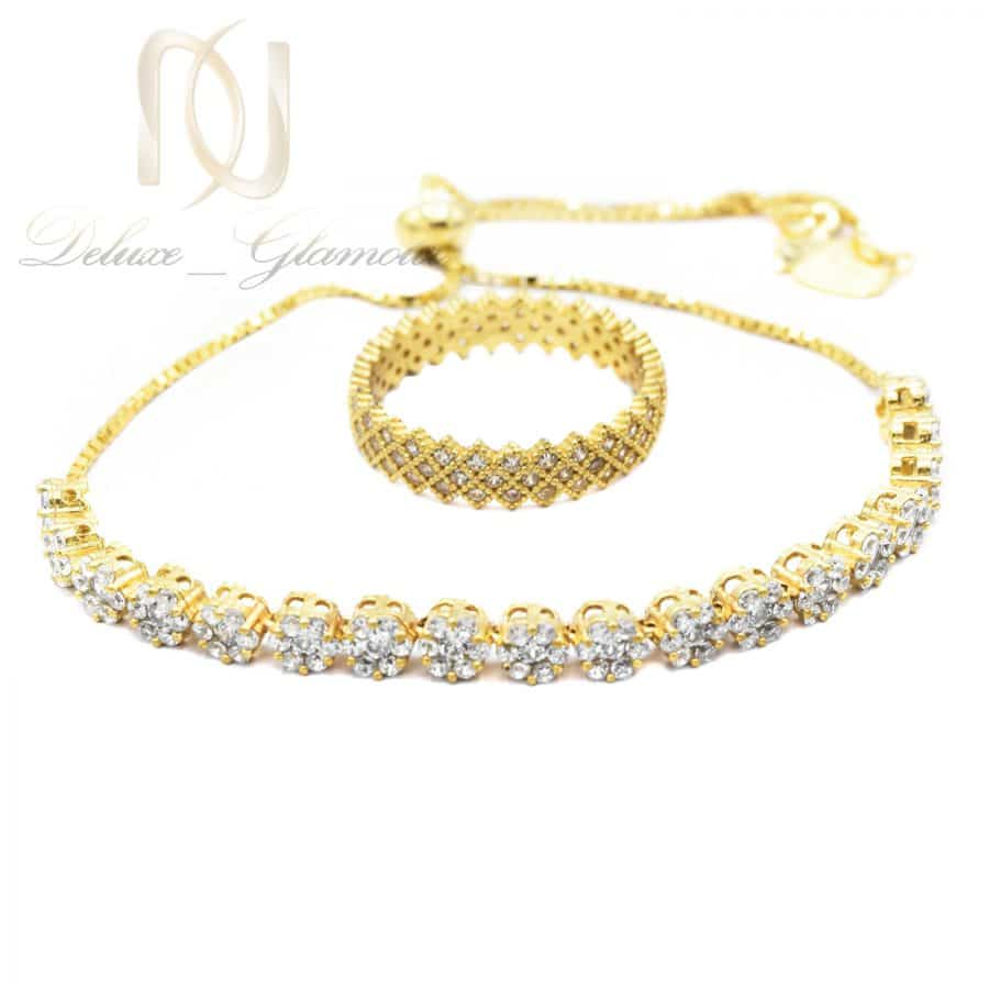 DSC 1283 | ست دستبند و انگشتر نقره طلایی ns-n692