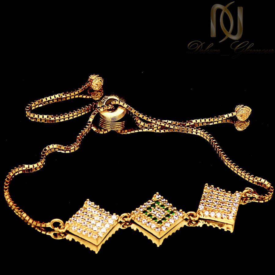 دستبند نقره دخترانه طلایی مارشالی ma n536 2 | دستبند نقره دخترانه طلایی مارشالی ma-n536