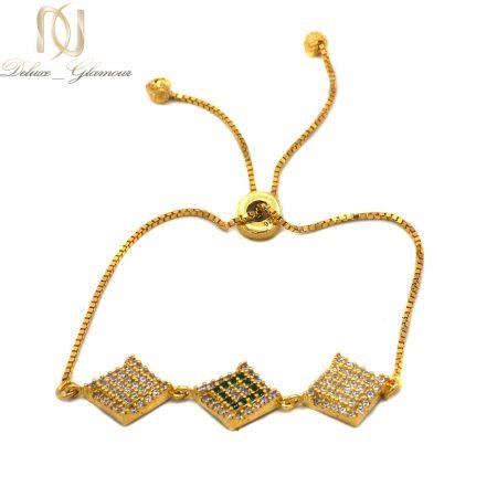 دستبند نقره دخترانه طلایی مارشالی ma-n536