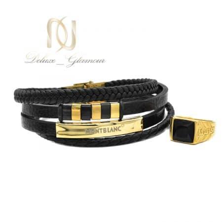 ست دستبند و انگشتر مردانه اسپرت ns-n680
