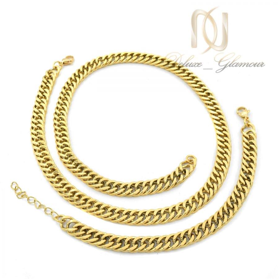 ست 1 | ست دستبند و گردنبند مردانه استیل ns-n070