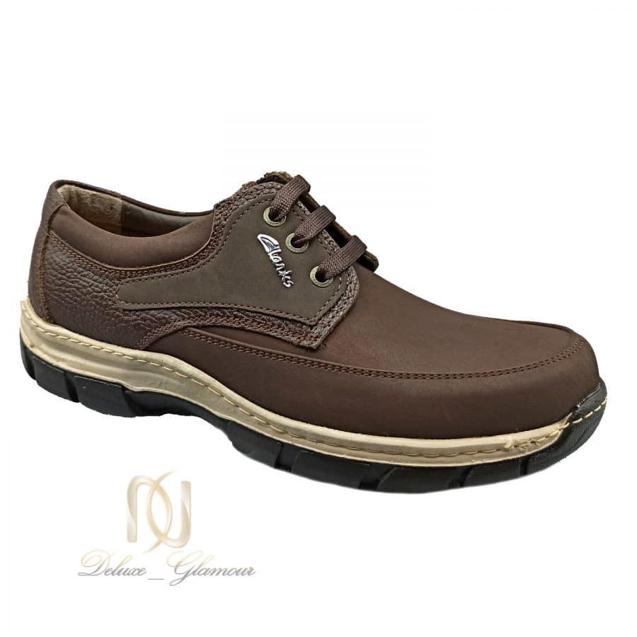 کفش مردانه چرم قهوه ای کلاسیک sh-n211