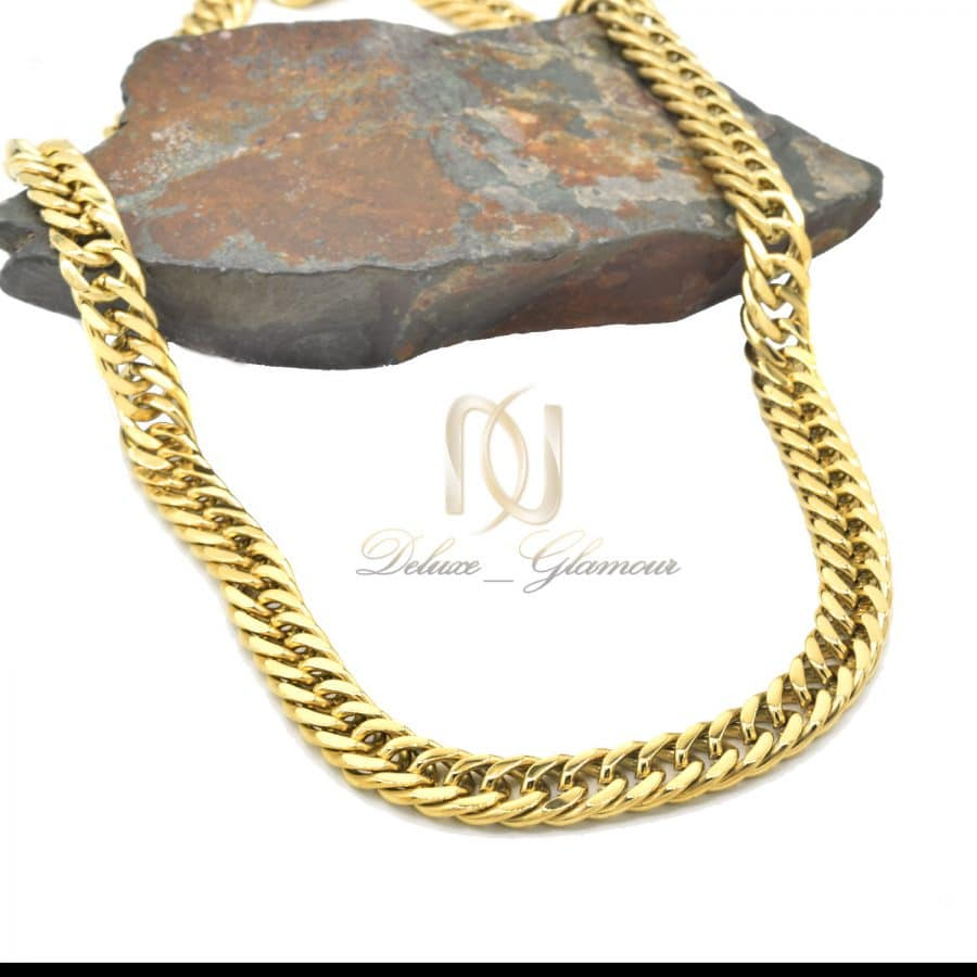 زنجیر مردانه کارتیر استیل پهن طلایی nw-n720
