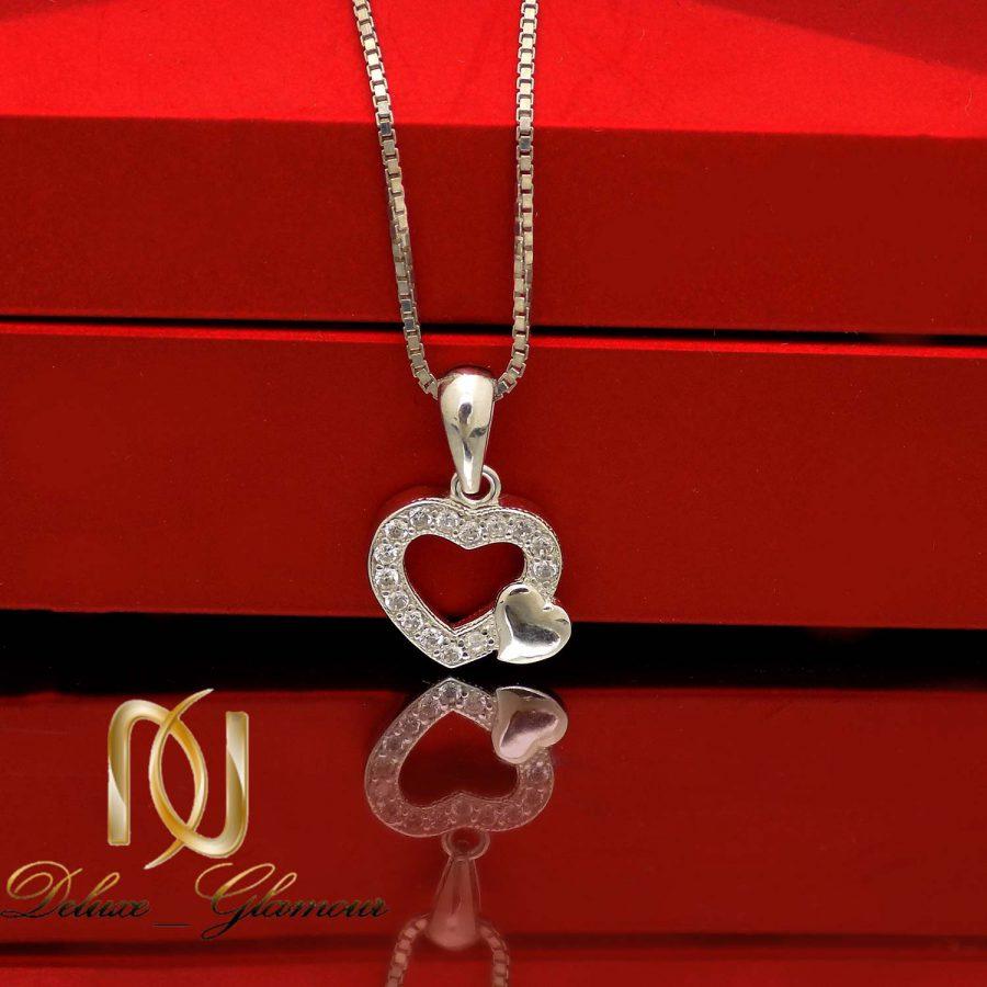 آویز نقره دخترانه ظریف طرح قلب ma n547 2 | آویز نقره دخترانه ظریف طرح قلب ma-n547