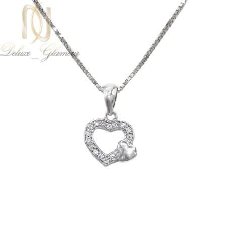 آویز نقره دخترانه ظریف طرح قلب ma-n547