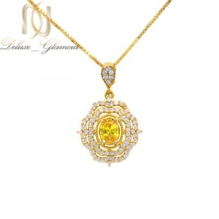 آویز نقره زنانه ظریف طرح طلا نگین دار ma-n544